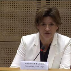 Isabelle Kocher s'est exprimée le 6 juin 2018 devant la commission des affaires économiques du Sénat