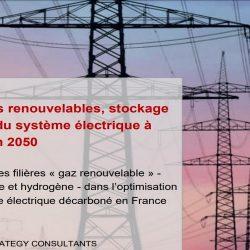 Energies renouvelables, stockage et coût du système électrique à l'horizon 2050