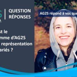 Quel est le programme d'AG2S pour la représentation des salariés ?