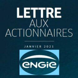Lettre aux actionnaires d'ENGIE - Janvier 2021