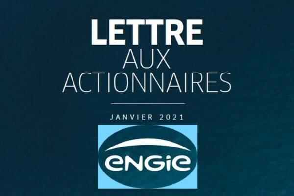 Lettre aux actionnaires d'ENGIE – Janvier 2021