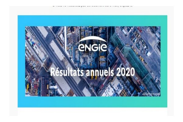 ENGIE  RESULTATS annuels 2020