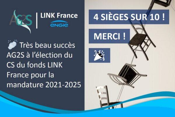 Beaux succès pour AG2S, avec 4 sièges sur 10 obtenus aux élections du CS du fonds LINK France