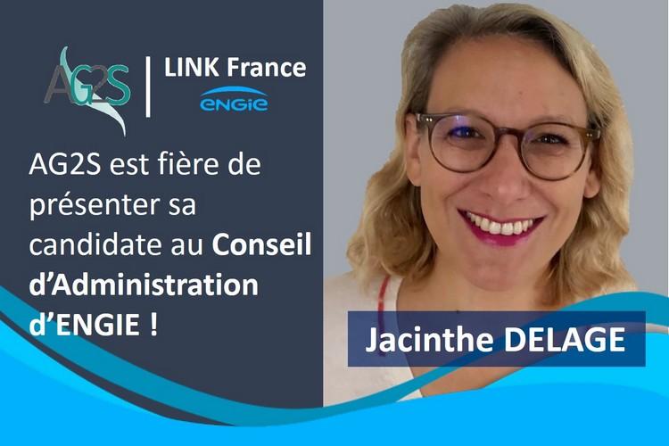 Jacinthe DELAGE notre candidate au CA d'ENGIE