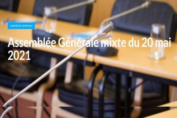 ENGIE : Assemblée Générale mixte du 20 mai 2021